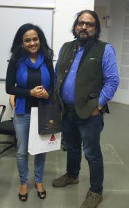 Raksha Bharadia and Sanjeev Kotnala at the Writing Workshop at MICA, 8th Feb 2017